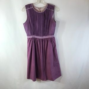 TAHARI PURPLE SIZE 8 MINI DRESS